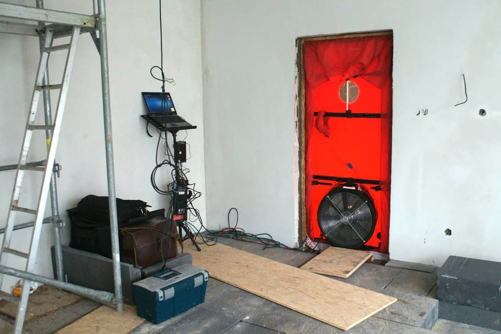Door Blower Test for Detecting Air Leaks