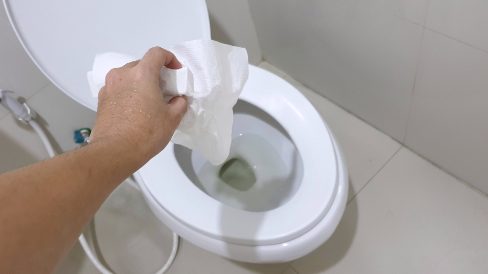 """Risks of """"Flushable"""" Wipes to Plumbing Systems"""